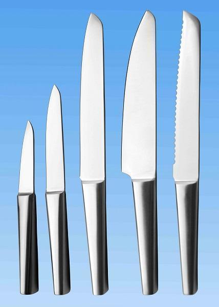 5-pc Kitchen Knife Set | All Stainless | Hollow Handle
