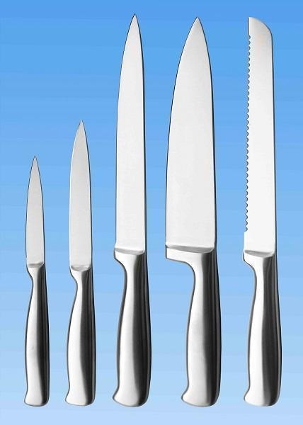 5-pc Kitchen Knife Set | All Stainless | Handle with Jagged End