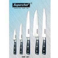 5pc Kitchen Knife Set | Black Synthetic Handles