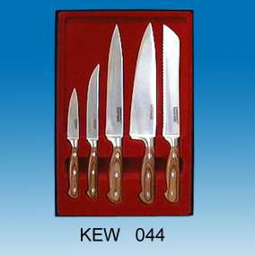 5-pc Kitchen Knife Set | Beige Pakka Handles