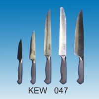 5-pc Kitchen Knife Set | Grey Matte Handle with Jagged End