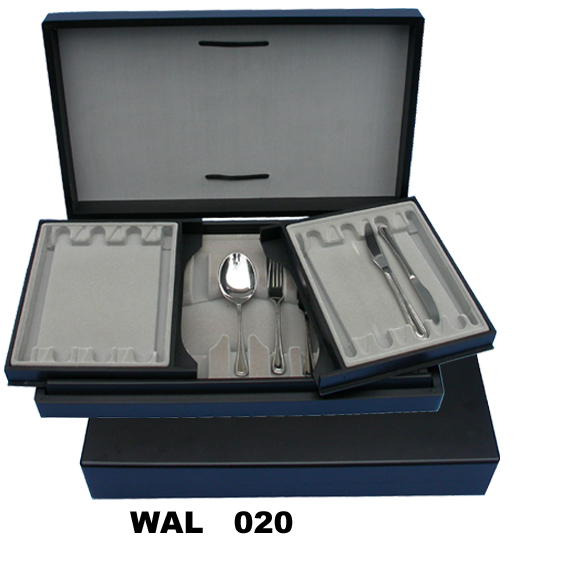Doudble Layer Wooden Canteen in Royal Blue