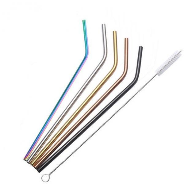 Multi-Color Stainless Steel Drinking Straw
